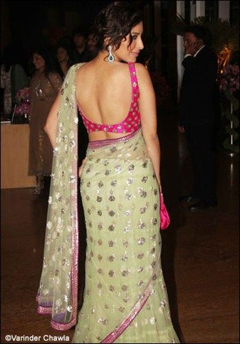 Divas flaunt their backs in style | Sleeveless blouse designs .