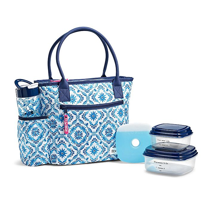 Fit & Fresh® Atwater 5-Piece Lunch Bag Set in Blue | Bed Bath & Beyo