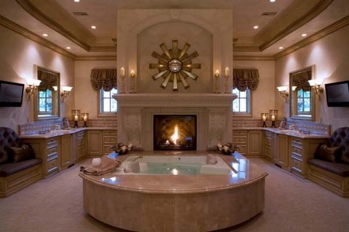 LUXURY BATHROOMS WITH FIREPLACES | Inspiration and Ideas from .