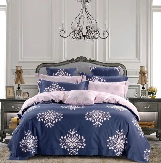China Luxury 300 Thread Count Printed Floral Design Duvet Cover .