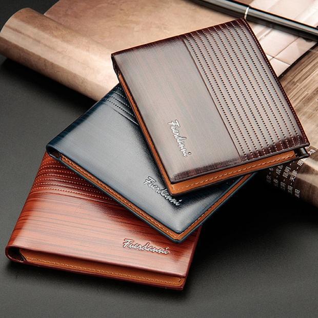 Baellerry 2018 Vintage Men Leather Brand Luxury Wallets Short Slim .