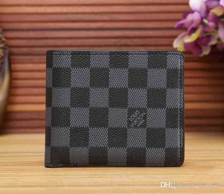 Paris Plaid Style Designe Mens Wallet Famous Men Luxury Wallets .