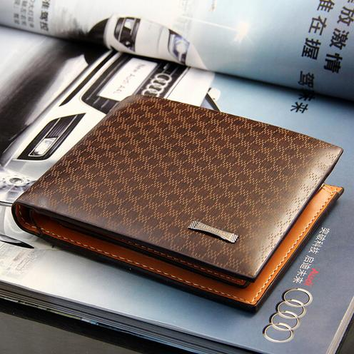 2017 Male Genuine Leather Luxury Wallet Casual Short Designer Card .