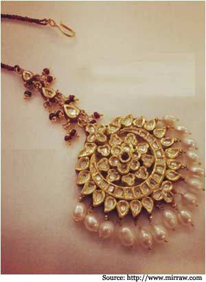 Golden Maang Tikka Designs- Bridal Jewellery, Bridal Maang Tikka .