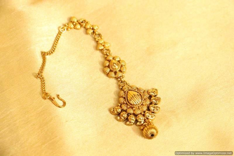 Yellow Gold Maang-Tikka - Sanvi Jewels Pvt. Ltd. - 5200