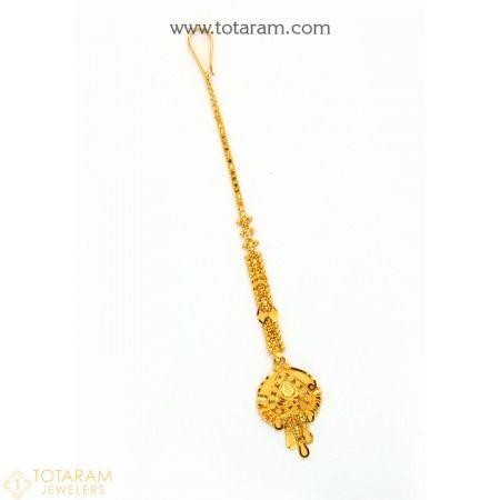 22K Gold Maang Tikka - Papidi Billa   22 karat gold jewelry, Tikka .
