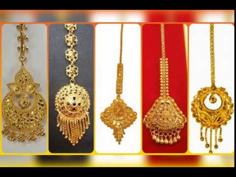 Latest light weight gold maang tikka designs collection!!! - YouTu