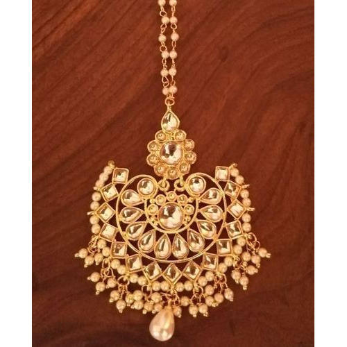 Gold Designer Kundan Maang Tikka, Rs 170 /piece Zevar Creation .