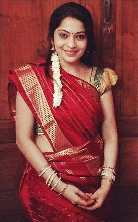 Deep Red Nine Yard Madisar Saree | Indian bride outfits, Madisar .