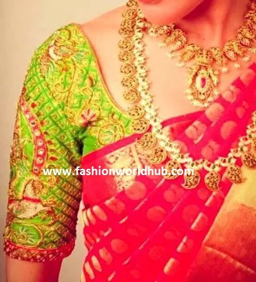 Elbow length Maggam work blouse designs and other blouses (With .