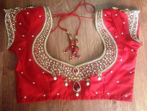 9 Beautiful Maggam Work Designs for Pattu Blouses with Images .