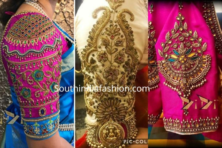 6 Beautiful Traditional Blouse Designs For Pattu Sarees! (With .