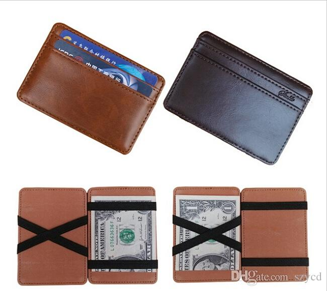 New Wallet Men Synthetic Leather Funny Magic Wallet Credit Card .