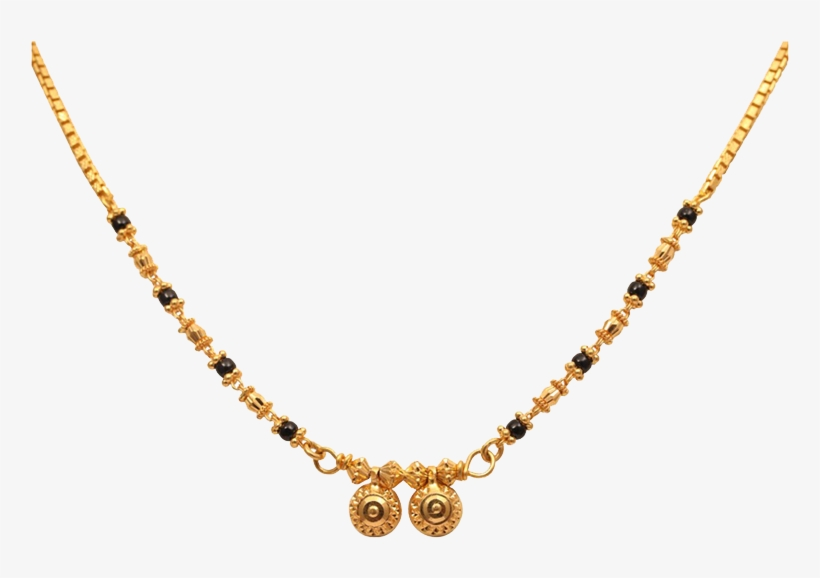 Traditional Small Mangalsutra Designs In Gold Transparent PNG .