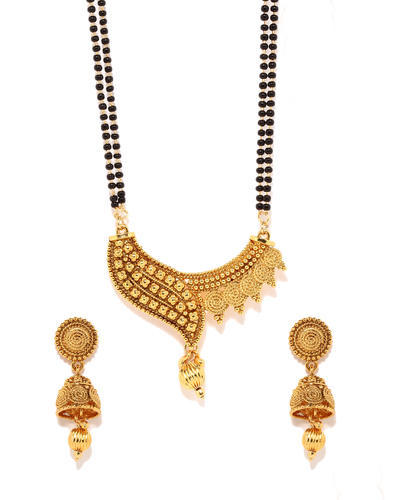 Mangalsutra Long Earring Traditional Set at Rs 200/set .