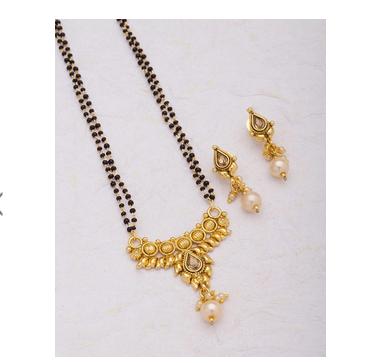 Gold Classic Yellow Mangalsutra Set, Rs 764 /set Voylla Fashions .