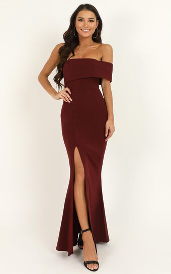 Glamour Girl Maxi Dress In Burgundy | Show