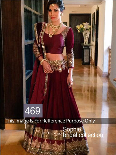 Maroon Lehenga Choli at Rs 2730/piece(s) | Lehenga Choli, Party .