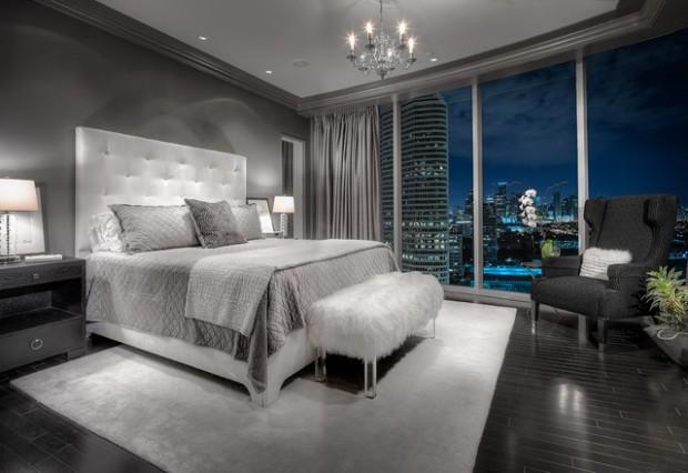 20 Beautiful Gray Master Bedroom Design Ide