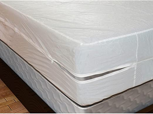 Amazon.com: ShopBedding Plastic Mattress Protector Zippered Queen .
