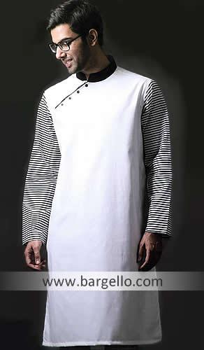 Hand Embroidered Kurta, Groom Salwar Kameez, Designer Men's Suit .