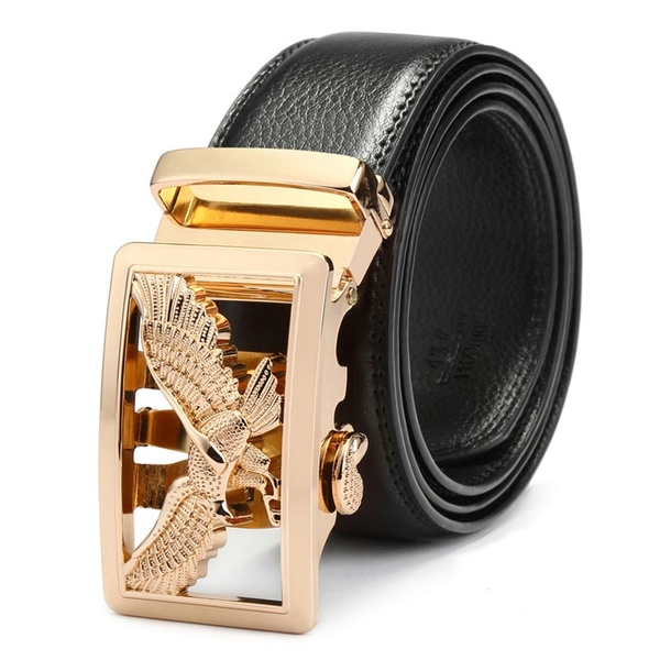 New Men Belt for Jeans Luxury Belt Cowskin Leather Automatic .