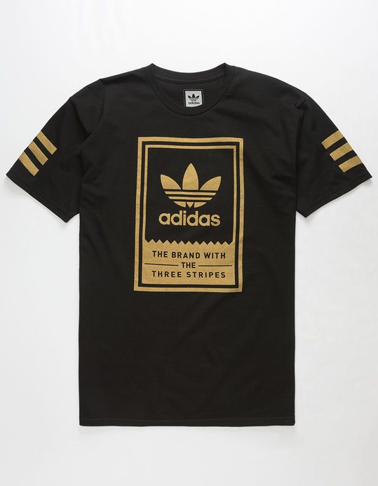 ADIDAS Gold Classic Mens T-Shirt (With images) | Mens tshirts .