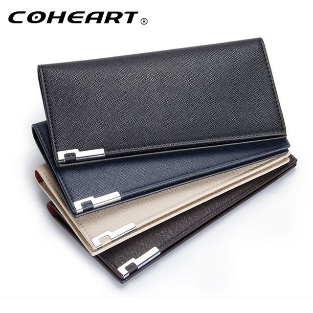 Slim wallet for men's leather purse luxury bra