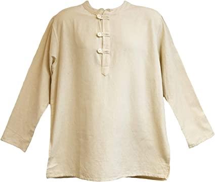 Amazon.com: Yak & Yeti Mens Tunic Muslin Cotton Cream Colored 3 .