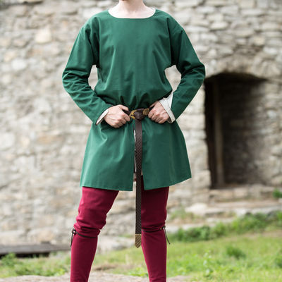 Cotton medieval tunic lined with fine flax linen. Available in .