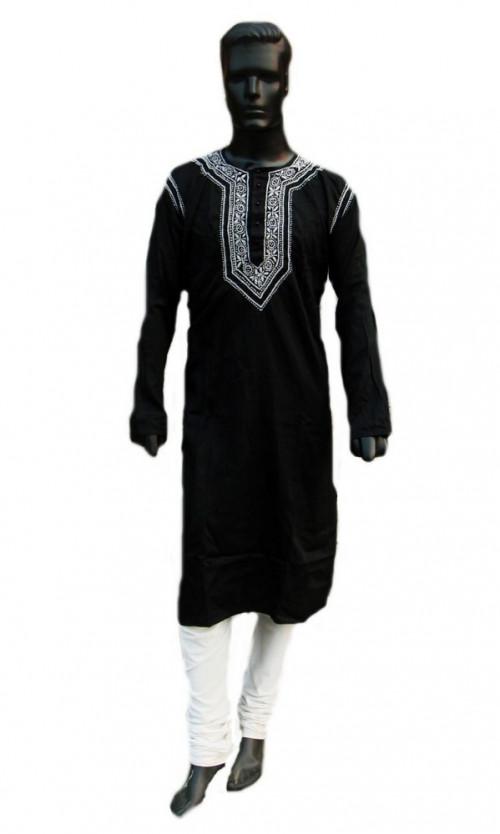 Mens Long shirt bohemian dress kurta tunic top black beach wedding .