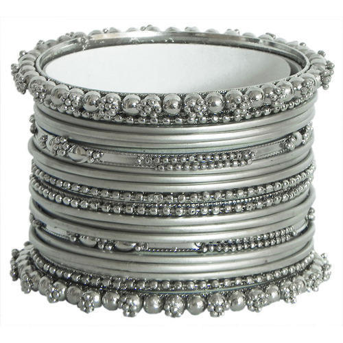 Most Popular Jewelry: Silver Bangles With Latk