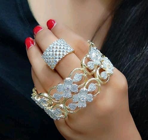 Buy Gold Metal Bangles for Women Online Jewellery – Nameera by Faro