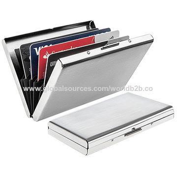 China Ultra Thin Aluminum Metal Wallets - RFID Blocking Credit .