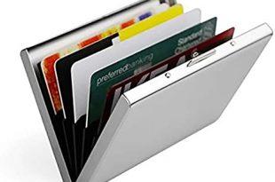Amazon.com : Feisuo Ultra Thin Aluminum Metal Wallets - RFID .