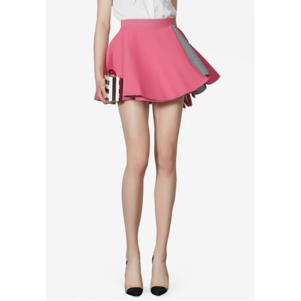 High Waist Flare Mini Skirt Women's Mini Skirts FgftSUNckdYV