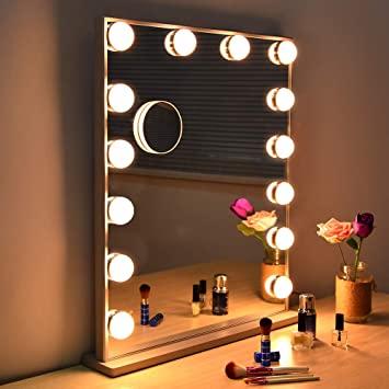 Amazon.com : Fenair Large Vanity Mirror With Lights & USB Charging .