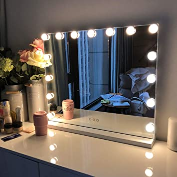 Amazon.com: FENCHILIN Large Vanity Mirror with Lights, Hollywood .