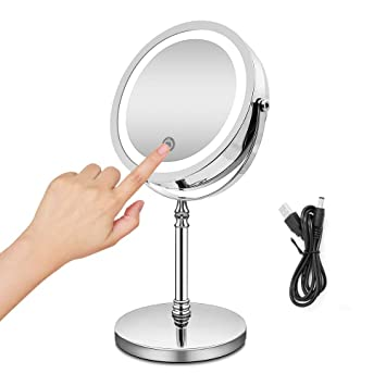 Amazon.com : BRIGHTINWD Rechargeable Makeup Mirror with Dimmable .