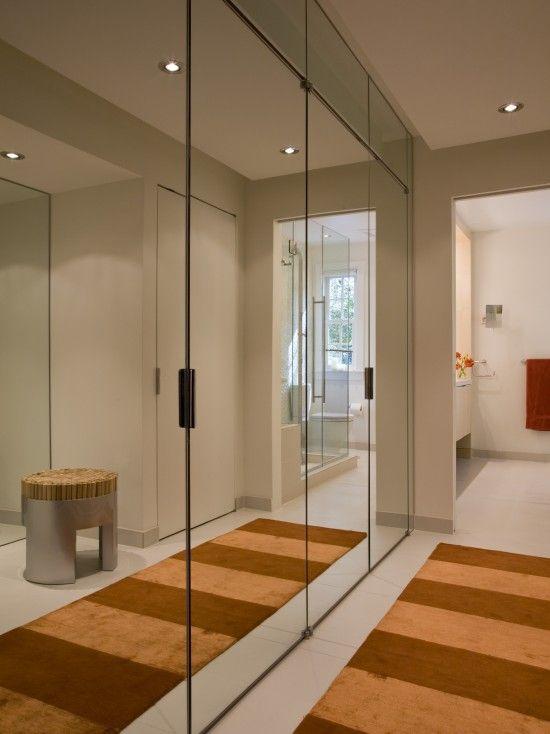 Modern Closet Design. Mirrors. #wardrobes #closet #armoire storage .