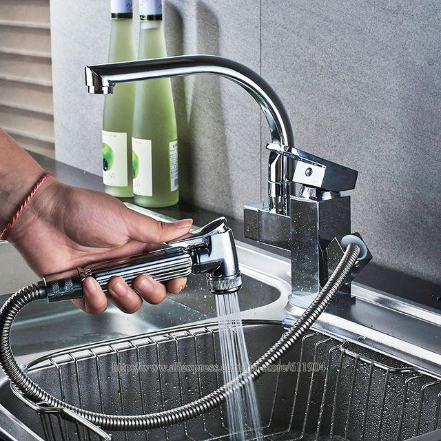 Buy Chrome Brass Kitchen Bathroom Faucet Brass Basin Sink faucet .