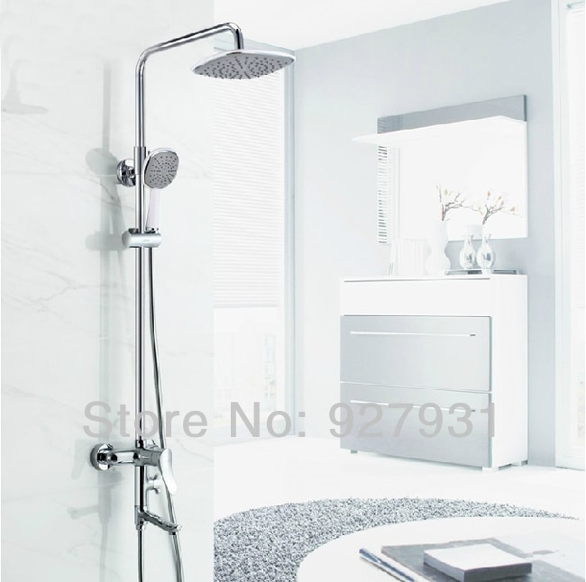 Chrome Finished New Design Bathroom Shower Faucet Tap Wall Mounted .