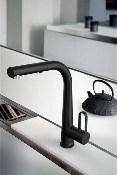 Skinny Black by Fima Carlo Frattini | Kitchen taps | Kitchen mixer .