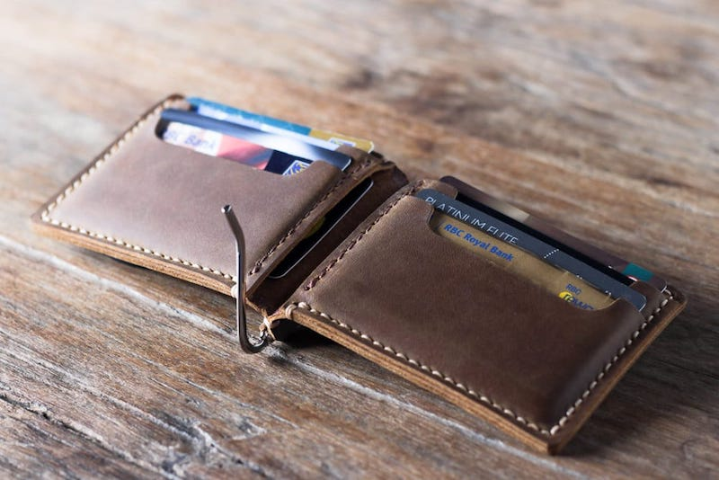 Leather Money Clip Wallet [Personalized] [Handmade] [Free Shippin