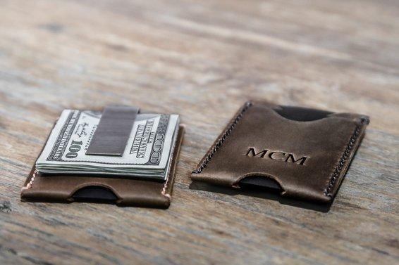 Minimalist Money Clip Wallet [Handmade] [Free Shippin