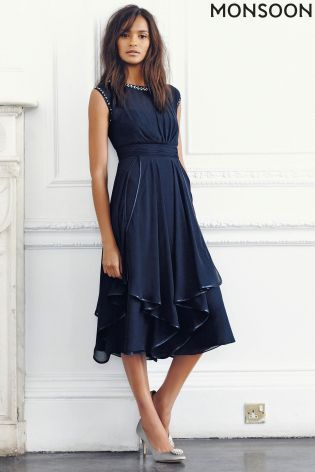 Buy Monsoon Anya Navy Dress from the Next UK online shop | Dresses .