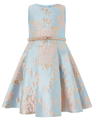 Cordella Jacquard Dress | Blue | 5 Years | 6152680233 | Monso