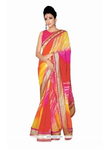 Georgette Multi Colour Designer Saree at Rs 2640/piece | Jassian .