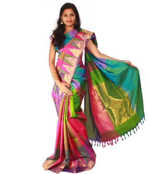 Which type of blouse matches a multicolor saree? - Quo