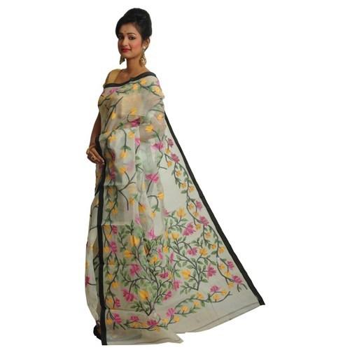 Party Wear Stylish Jamdani Muslin Silk Saree, Rs 26999 /piece .
